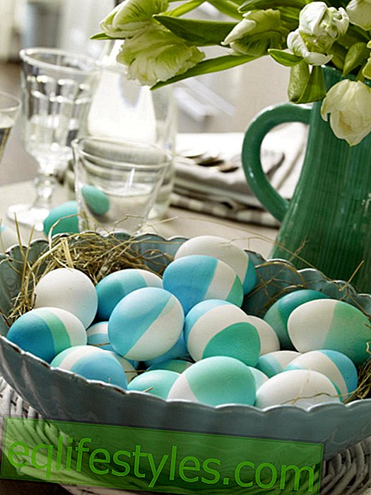 Easter bowl with colored eggs