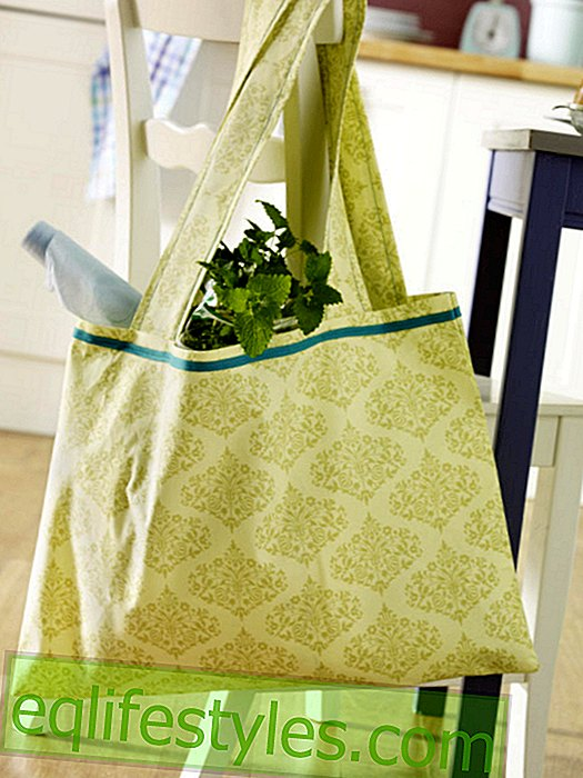 Cloth bag with ornaments