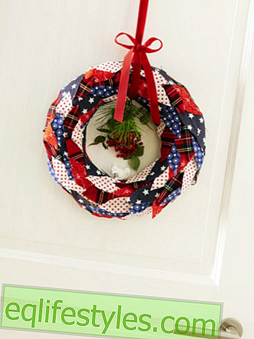live - Fabric wreath itself - with instructions