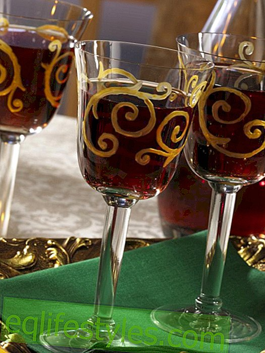 Glasses with golden ornaments