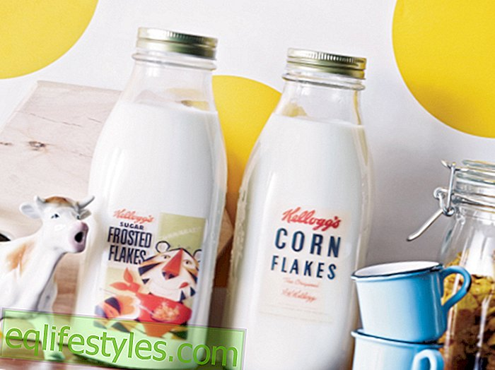 InstructionsMilk bottle labels: That's how you make original milk bottles