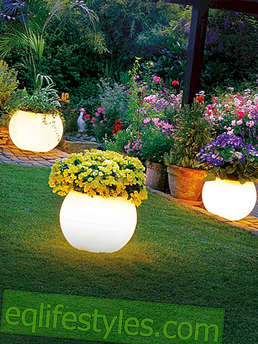Lights for balcony and garden: So you will find the right one