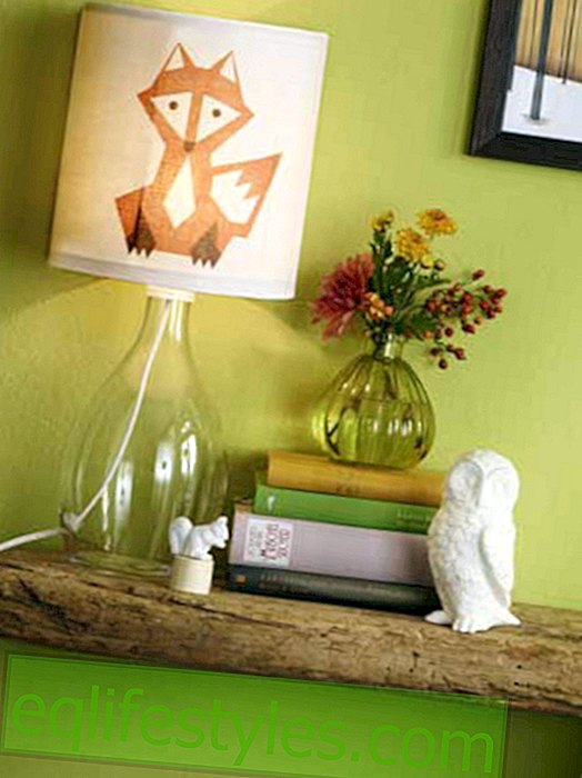 live - DIY tip: cute fox lamp with instructions