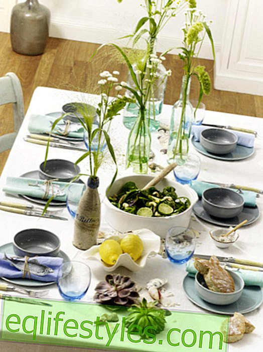 Maritime table decoration: Holiday feeling for the home