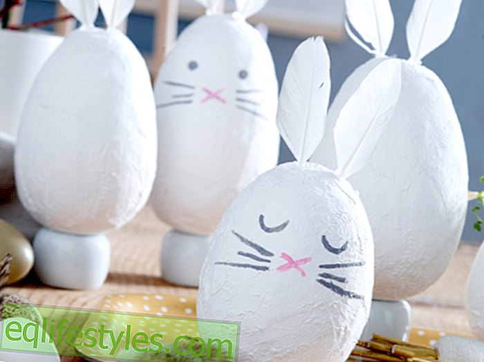Instructions: How to make gypsum hare as Easter decorations