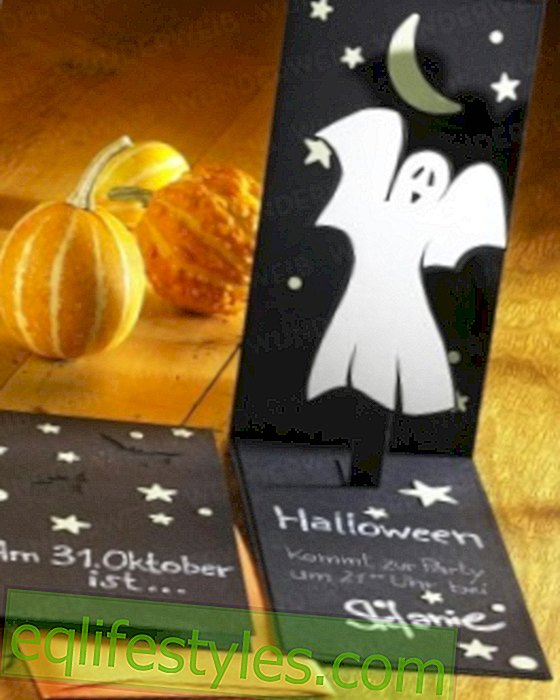 live - Halloween: invitation card to the witching hour