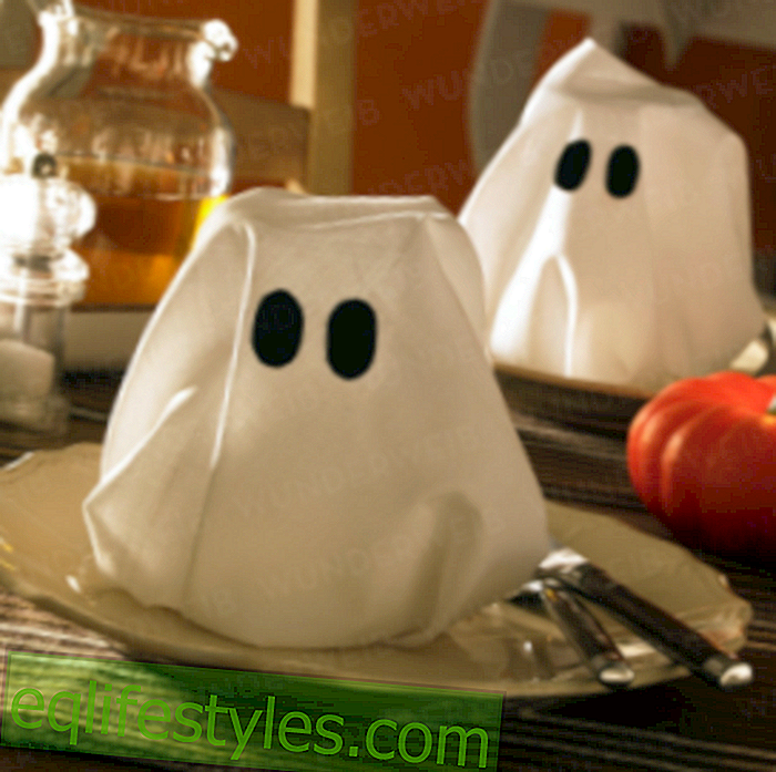 Halloween: Haunted ghost napkins