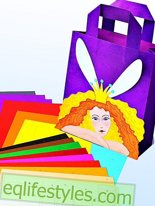 Make colorful paper bags yourself