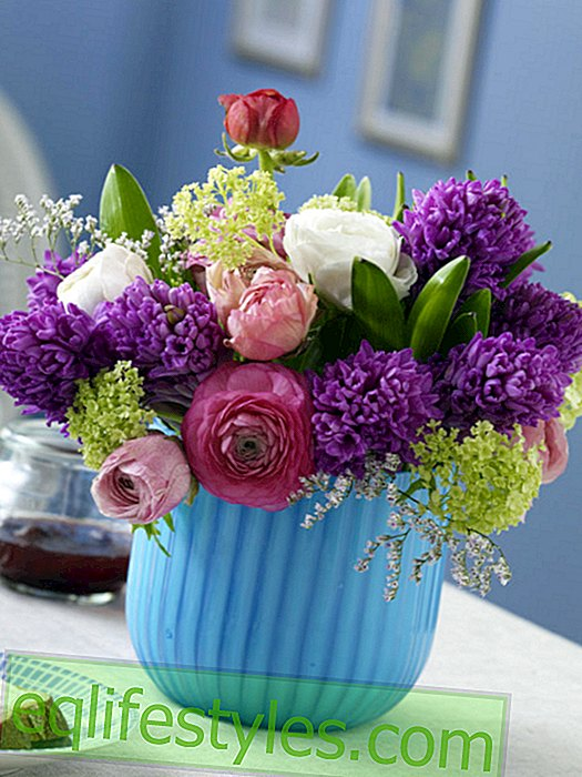 Colorful mixed spring bouquet