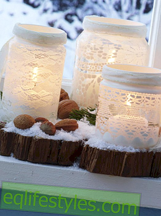 Wind lanterns with lace look