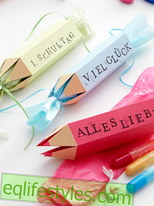 It's so easyCreative gift wrapping for the beginning of school