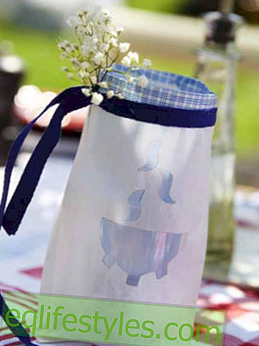 Bag lantern for the barbecue evening