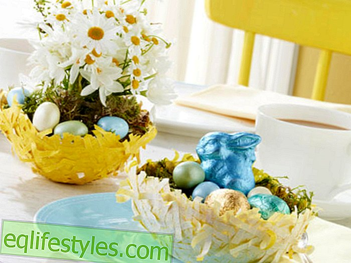 DIYInstruction: Easter basket made from paper mache