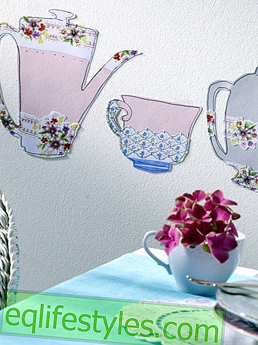 Wall border with pitcher motif