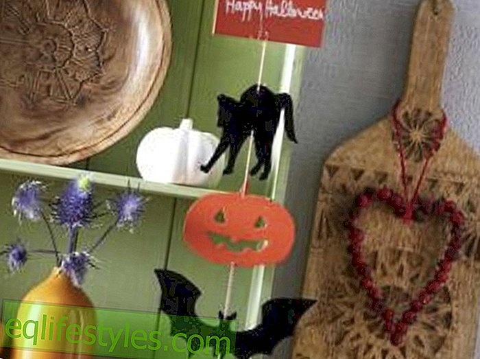 Beautifully scary crafting instructions for a happy Halloween decoration