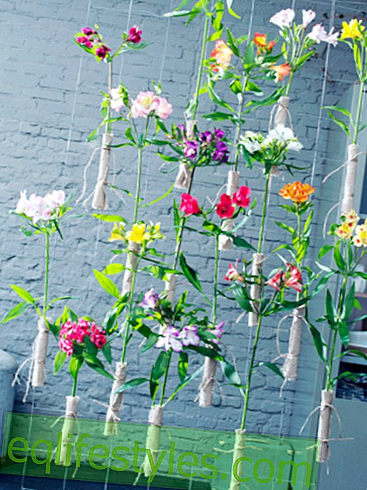 DIY: Room divider made of flowers for fall