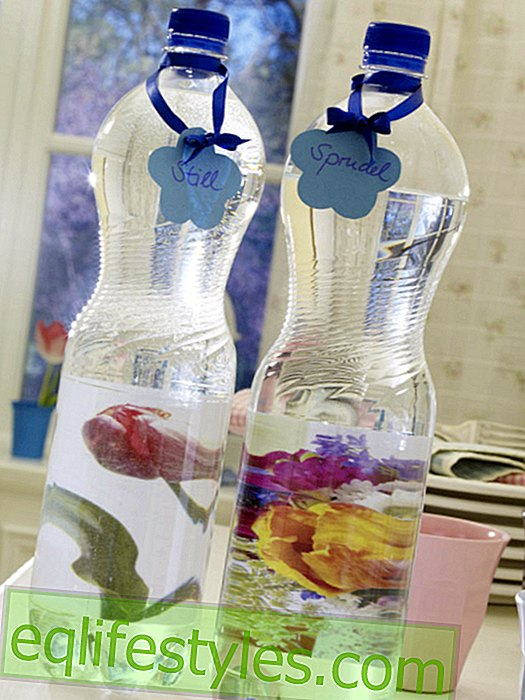 Bottles with flower pictures