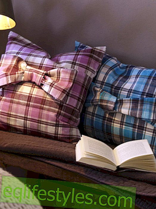 DIY tip: Fluffy check cushions